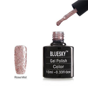 Bluesky BLING COLLECTION Rose Mist Glitter - KS4049 UV LED Soak Off Gel