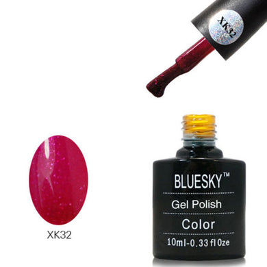 Bluesky XK32 Red Glitter - UV LED Gel 10ml