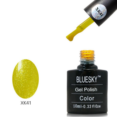 Bluesky XK41 Yellow Glitter - UV LED Gel 10ml