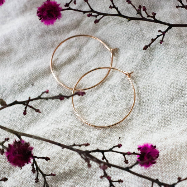 Superfine Everyday Hoop Earrings - 9k Ethical Gold