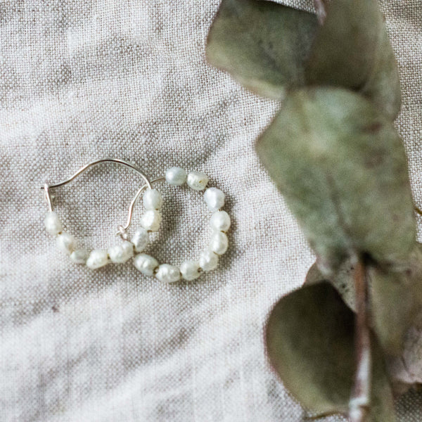 Mini Freshwater Pearl Hoops