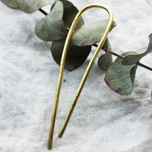 Hair Pin Fork in Brass