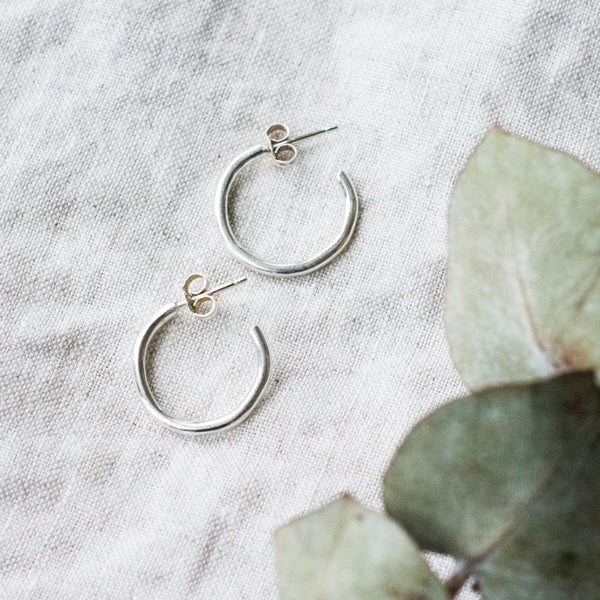 Polished Mini Hoops