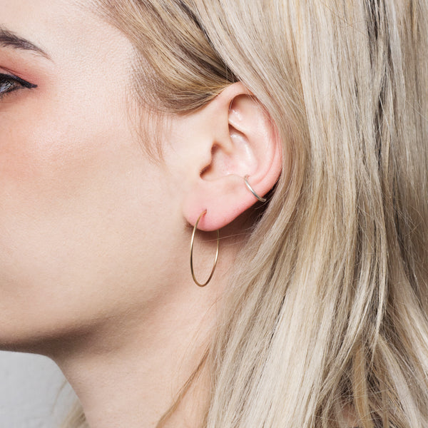 Superfine Everyday Hoop Earrings - Gold Coated