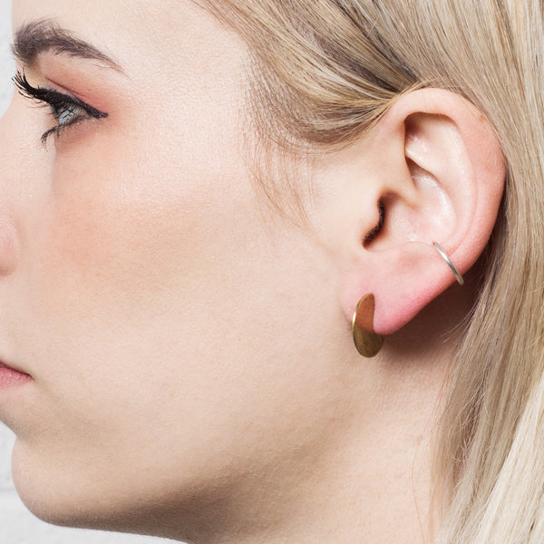 Mini Slice Hoop Earrings