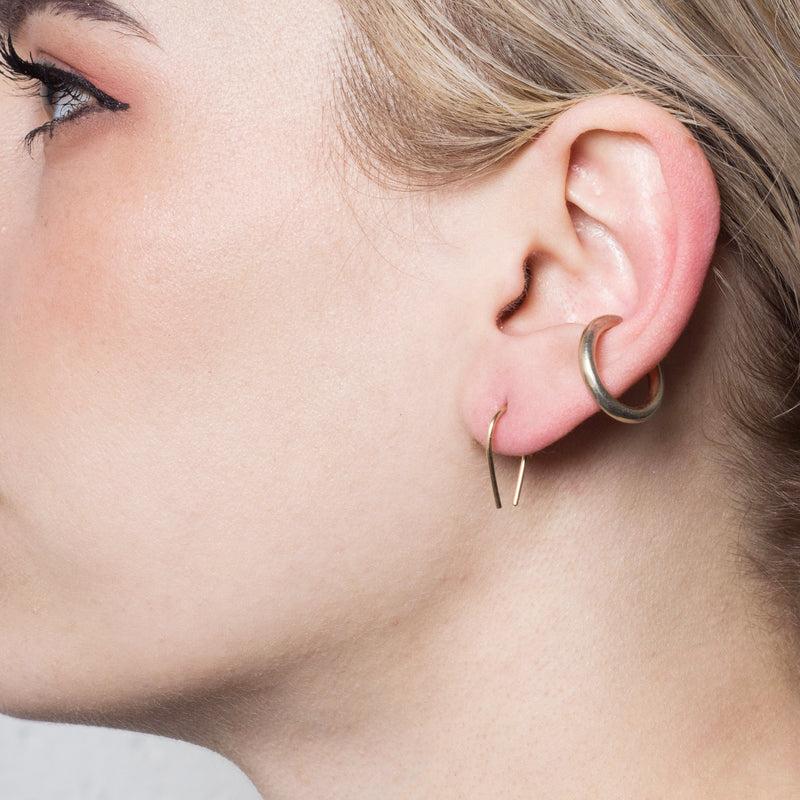 Minimalist Modern Arch Hook Earrings