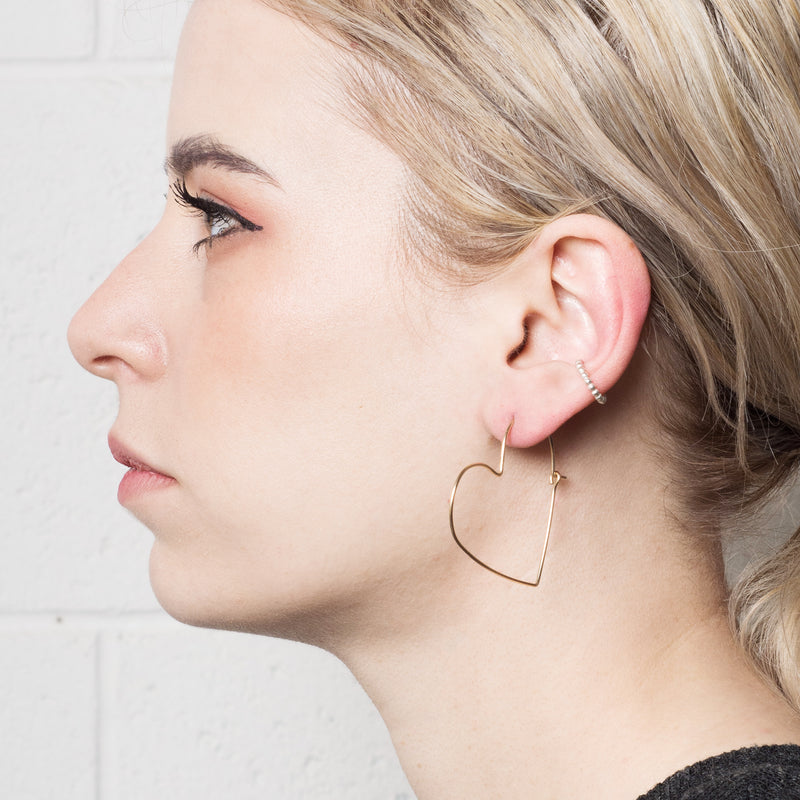 'Miffy' Beaded Ear Cuff - Sterling Silver