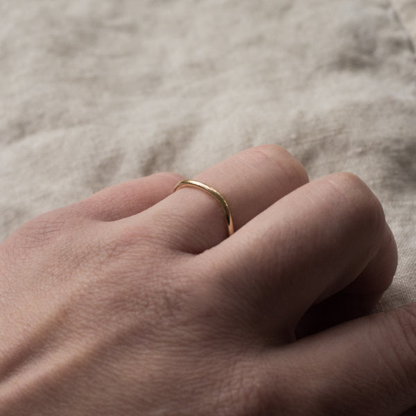 Polished Curve Ring - Solid Gold or Silver