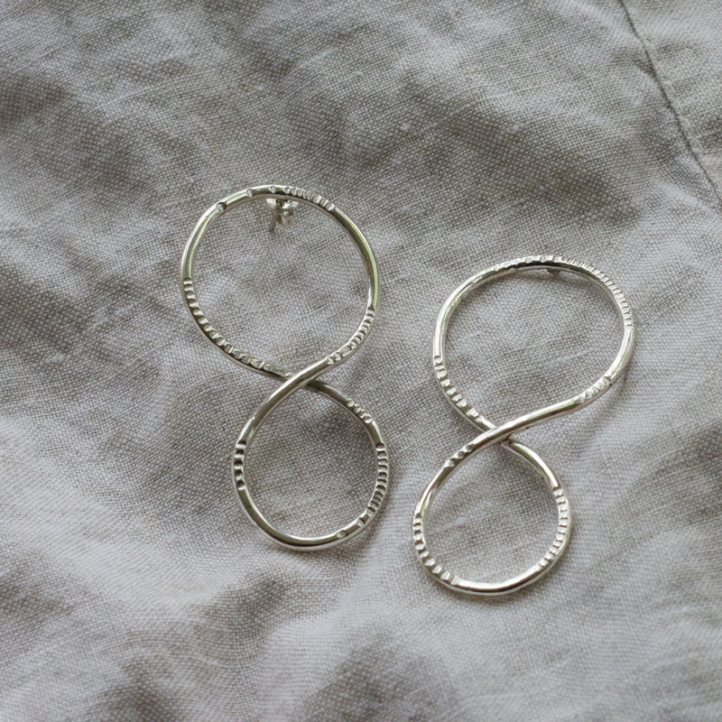 'Odette' Twist Loop Earrings