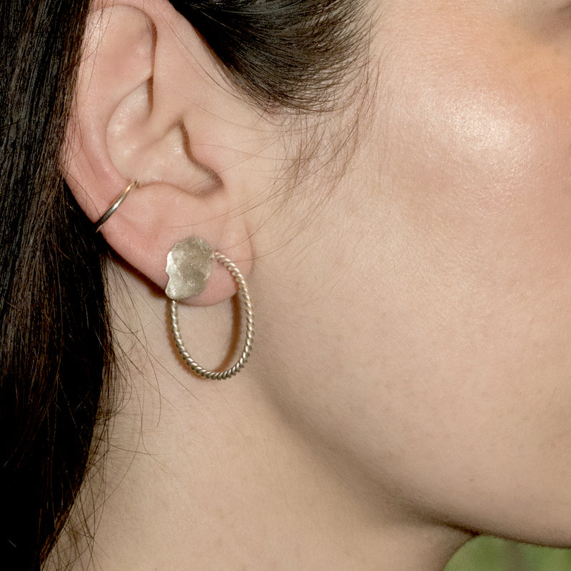Francesca Twist Hoop Earrings