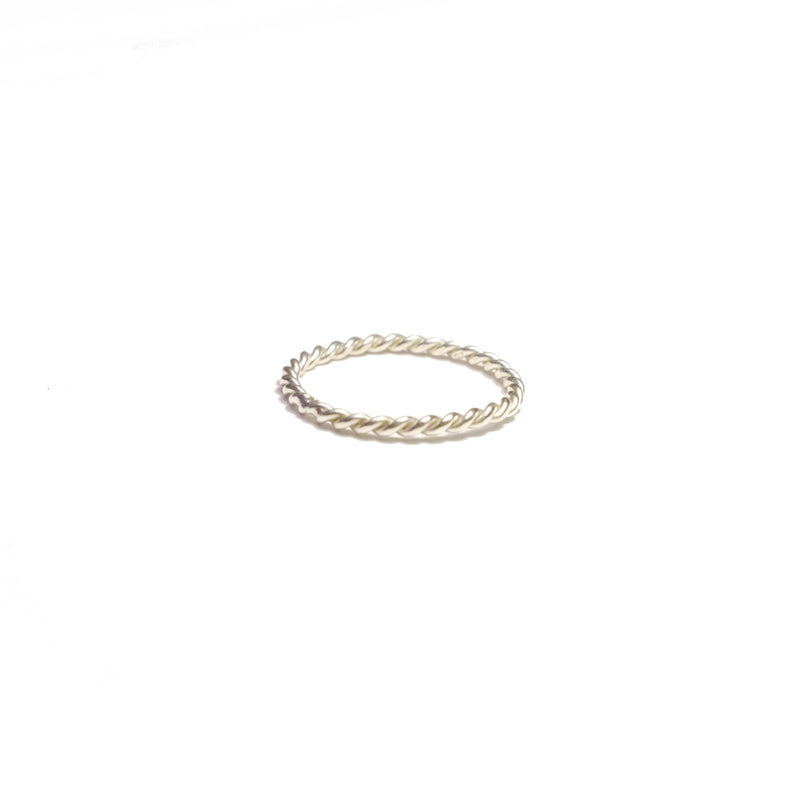 Sterling Silver Twist Rope Ring