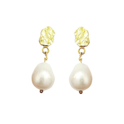 'Violet' Freshwater Pearl Drop Earrings