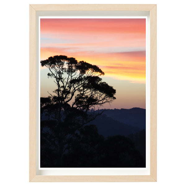 BUSHFIRE RELIEF ART PRINT SERIES - CUDLEE CREEK FIREGROUND - SMOKY BEAUTY ON CHRISTMAS EVE, 2019 *FINE ART PRINT*