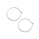 Superfine Everyday Hoop Earrings - Sterling Silver