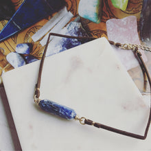 Load image into Gallery viewer, Blue Gemstone Choker