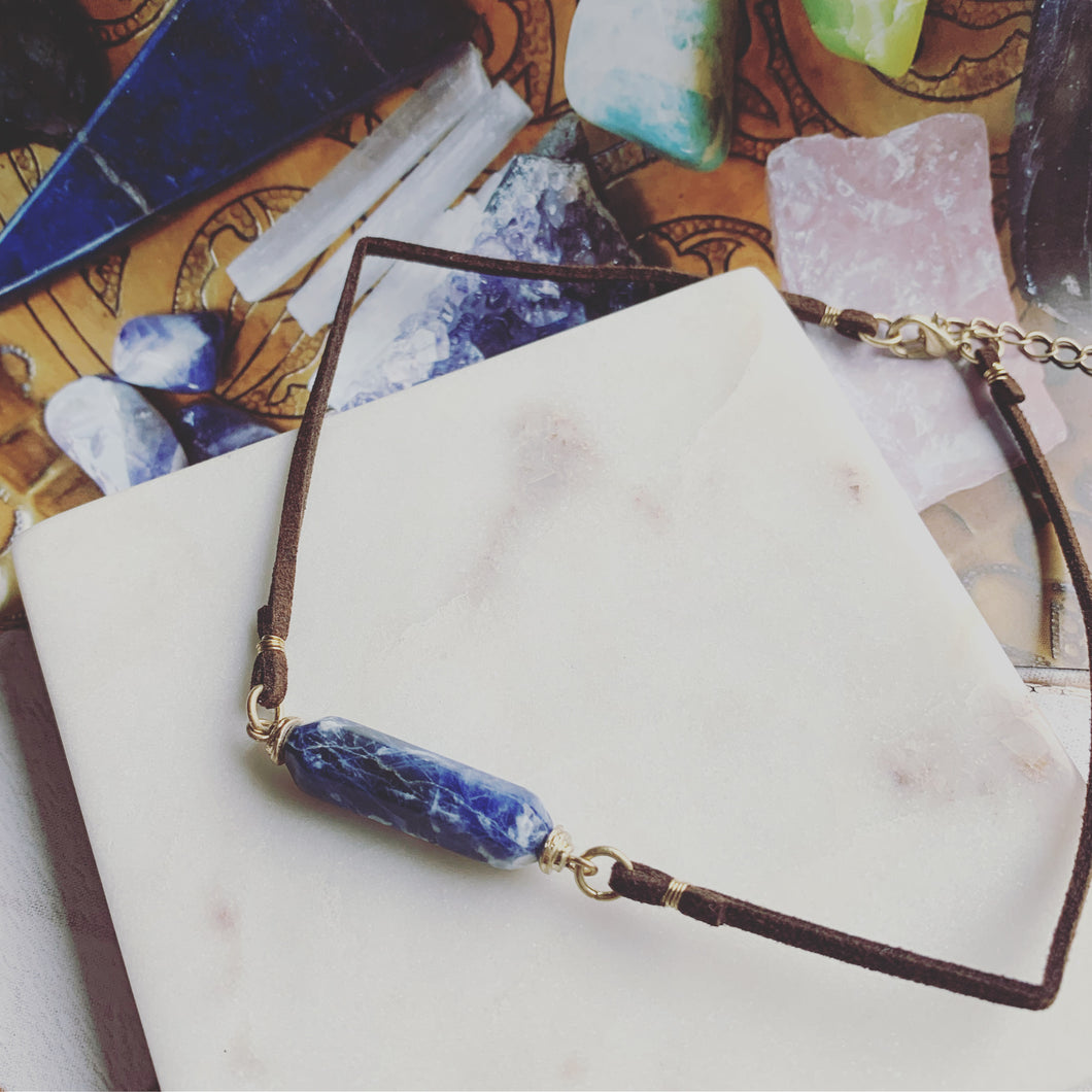 Blue Gemstone Choker