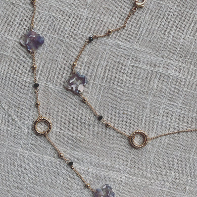 Marbled Round Beads Necklace