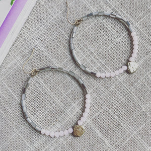 Charming Beaded Hoop Earrings