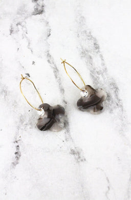 Gray Marbled Earrings
