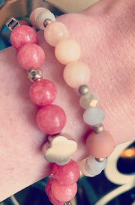 Light Peach Gem Bracelet