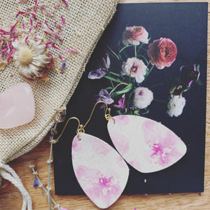Pink Cork Earrings
