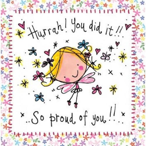 Hurrah! You did it! End of treatment cards and gifts