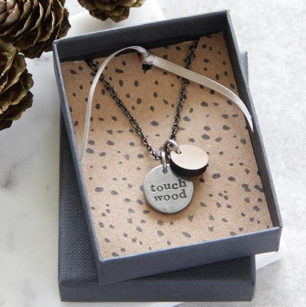 Ideas for a present to celebrate 5 years clear? Touch Wood necklace
