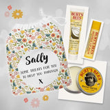 Burt's Bees Pampering Gift Set And Personalised Bag