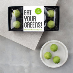 Eat Your Greens Belgian Chocolate Brussels Sprouts