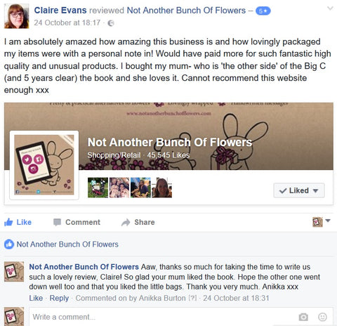 Not Another Bunch Of Flowers Facebook Review