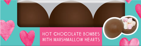 Valentine's Hot Chocolate Bombes