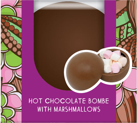 Hot Chocolate Marshmallow Bombe