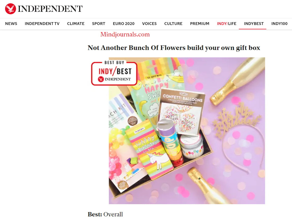 The Independent Best 21st Birthday Gifts