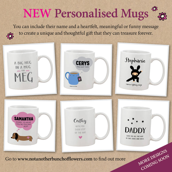 Personalised Get Well Gift Mugs