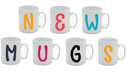 Personalised Initial Bright Mug