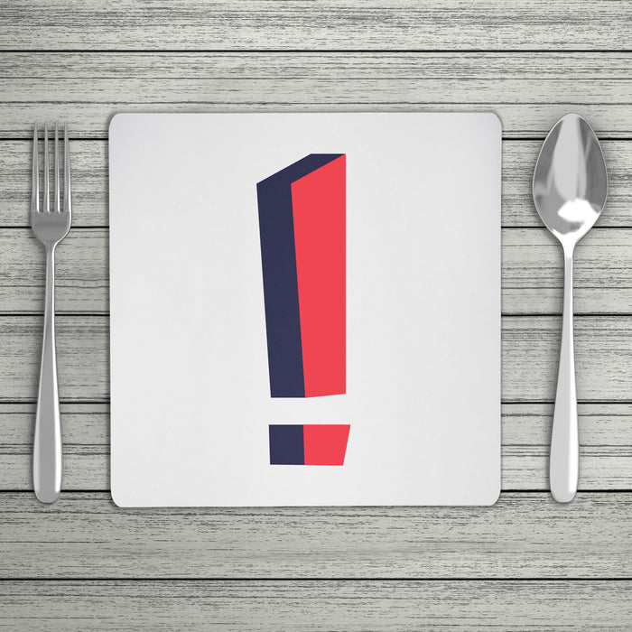Bright 3D Personalised Initial Placemat (Mix & Match Colours)