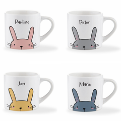 Personalised Name Easter Bunny Children's Mug - Various Colours