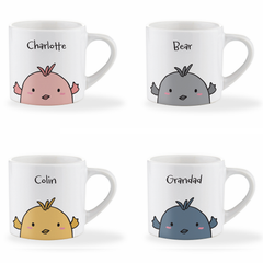 Personalised Name Easter Chick Children's Mug - Various Colours