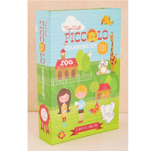 Piccolo Colouring Set - A Day At The Zoo