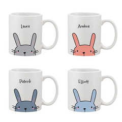 Personalised Name Easter Bunny Adult Mug - Various Colours