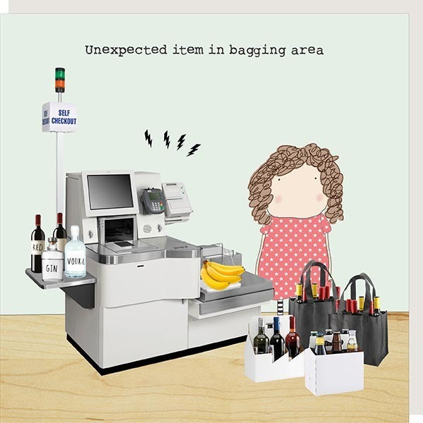 Unexpected Item In Bagging Area Birthday Card