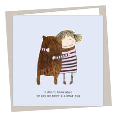Bear Hug Get Well Card