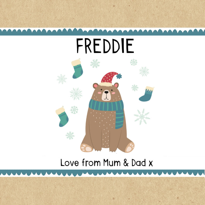 Bear Personalised Christmas Gift Box