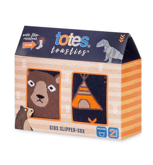 Kids Bear & Camping Slipper Socks