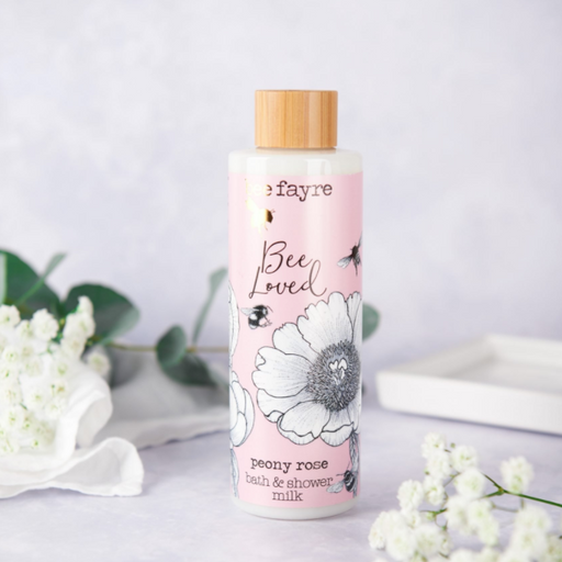 Beefayre Bee Loved Peony Rose Bath Milk