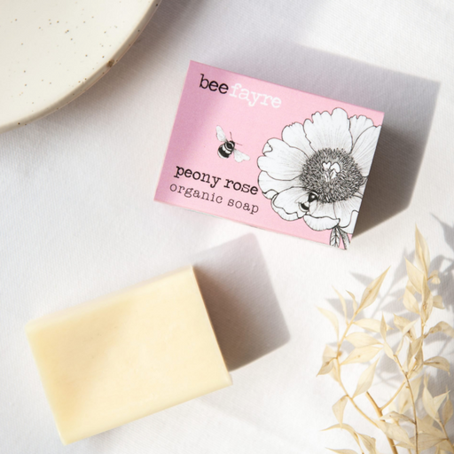 Beefayre Bee Loved Peony Rose Organic Soap