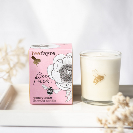 Beefayre Peony Rose Scented Candle