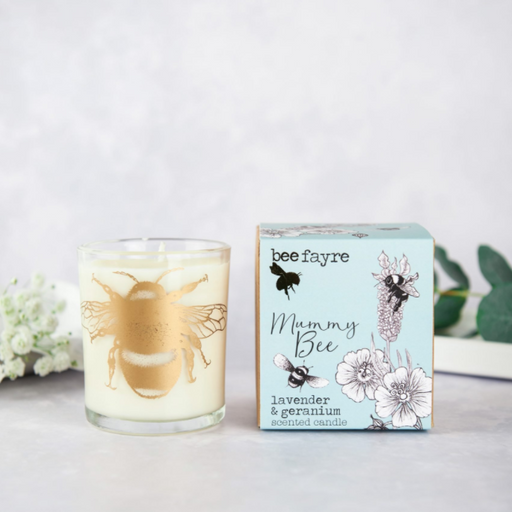 Beefayre 'Mummy Bee' Lavender and Geranium Large Candle
