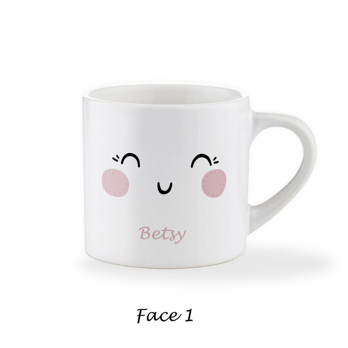 Children's Personalised Pretty Face Mug