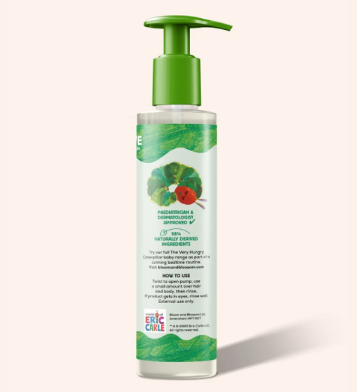 Bloom and Blossom The Very Hungry Caterpillar Baby Hair and Body Wash, Baby Hair and Body Wash, Jasmine and Lavender Baby Body Wash, Baby Shampoo, Delicate Skin
